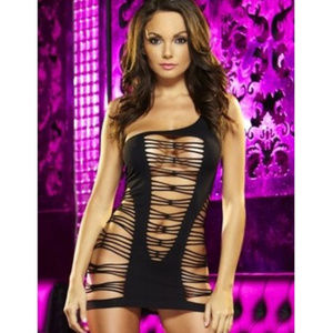 Lapdance Party Time Black Mini Dress